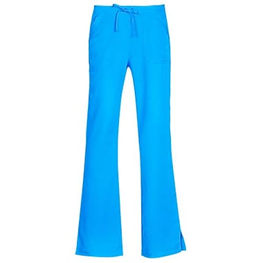 Gravity 9203 Sporty Back Elastic Front Drawstring Flare Pant, Marine Blue, Regular S