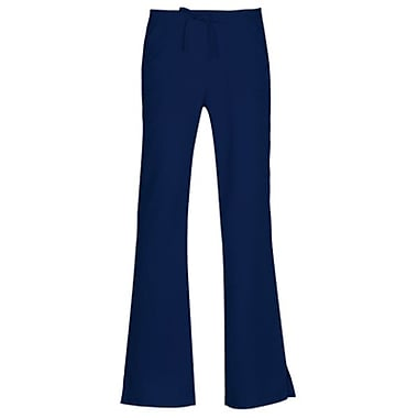 Gravity 9203 Sporty Back Elastic Front Drawstring Flare Pant, Navy, Regular M
