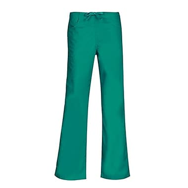Core 9626P Straight Cargo & Black Elastic Drawstring Pant, Teal, Petite XL
