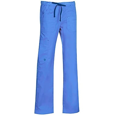 Maevn Blossom 9202 Multi-Pocket Utility Cargo Pants, Ceil Blue
