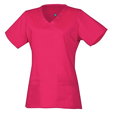 Blossom 1102 Y-Neck Top with Princess Seaming, Passion Pink, Regular 2XL