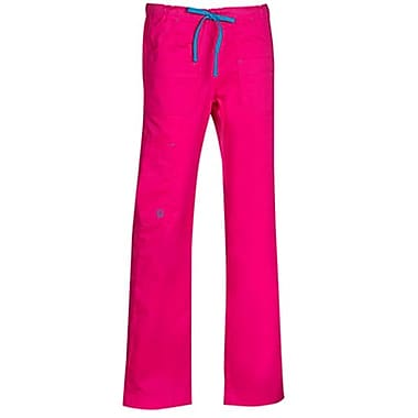 Maevn Blossom 9202T Multi-Pocket Utility Cargo Pants, Passion Pink