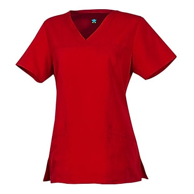 Gravity 1203 Sporty V-Neck with Princess Seaming, Tango Red, Regular XS