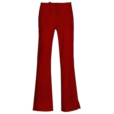 Gravity 9203 Sporty Back Elastic Front Drawstring Flare Pant, Tango Red, Regular M