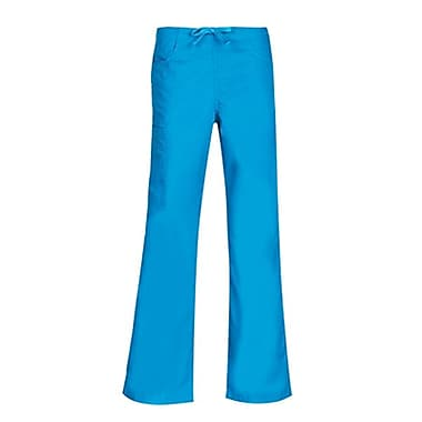 Core 9626 Straight Cargo & Black Elastic Drawstring Pant, Malibu Blue, Regular L