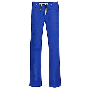 Blossom 9302 Triple Pintuck Multi-Pocket Utility Pant, Royal, Regular XS