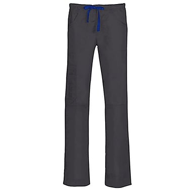 Blossom 9302P Triple Pintuck Multi-Pocket Utility Pant, Charcoal, Petite XL