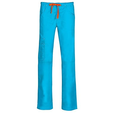 Blossom 9302P Triple Pintuck Multi-Pocket Utility Pant, Pacific Blue, Petite XS