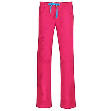 Blossom 9302P Triple Pintuck Multi-Pocket Utility Pant, Passion Pink, Petite 2XL