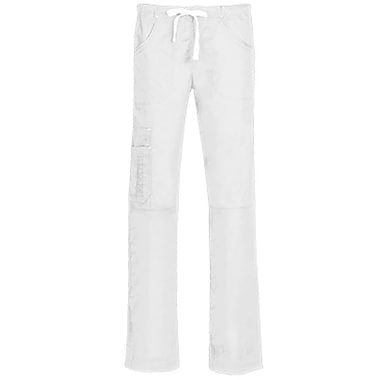 Blossom 9302 Triple Pintuck Multi-Pocket Utility Pant, White, Regular S