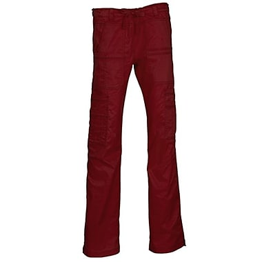 Blossom 9602T Multi-Pocket Utility Cargo Pant, Wine, Tall XS