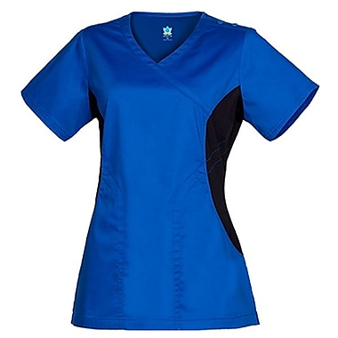 Maevn Empress 3102 Knit Accent Y-Neck Tops, Royal