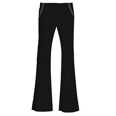 Empress 7102P Multi-Pocket Fashion Flare Pant with Contrast, Black, Petite 2XL