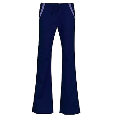 Empress 7102P Multi-Pocket Fashion Flare Pant with Contrast, Imperial Blue, Petite L