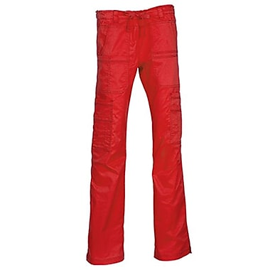 Maevn Blossom 9602P Multi-Pocket Utility Cargo Pants, Crimson