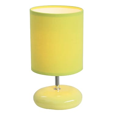 All the Rages Simple Designs LT2005-GRN Stonies Lamp, Green