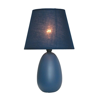 All the Rages Simple Designs LT2009 Oval Ceramic Table Lamp