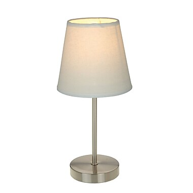 All the Rages Simple Designs LT2013-WHT Nickel Table Lamp Shade, White
