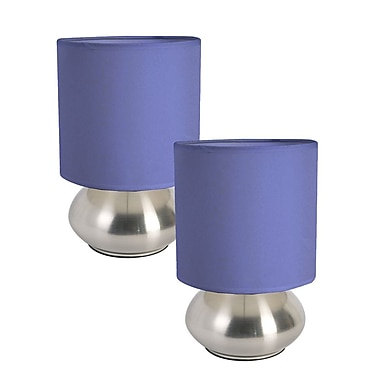 All the Rages Simple Designs LT2016-BLU-2PK Touch Lamp Shade 2 Pack, Blue