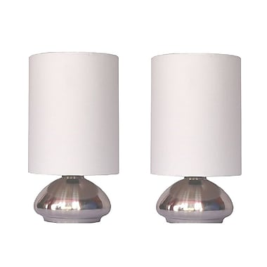 All the Rages Simple Designs LT2016-IVY-2PK Touch Lamp Shade 2 Pack, Ivory