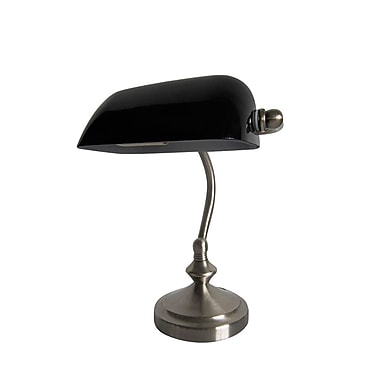 All the Rages Simple Designs LT3057-BLK Bankers Lamp, Black