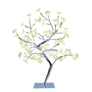 All the Rages Simple Designs NL2007-CHR Morning Glory LED Tree, White