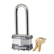 Master Lock® 4 Pin Keyed Alike Laminated Padlock With 2 1/2 Shackle, 6/Box