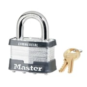"Master Lock® 4 Pin Keyed Alike Laminated Padlock With 3/8"""" Shackle, 6/Box"