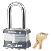 Master Lock® 4 Pin Keyed Alike Laminated Padlock With 1.5 Shackle, 6/Box