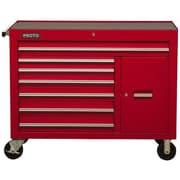 "Proto® 450HS 50"" 7 Drawer and 1 Shelf Work Station, Red"