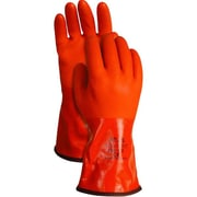 Showa Best Glove® Disposal Istant PVC Fully Coated Double Di Dz6 Gloves, Size 9