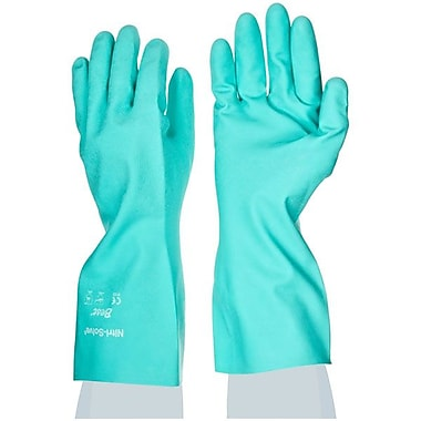 Showa Best Glove® Nitri-Solve® Chemical Resistant Gloves, Green, Size 9