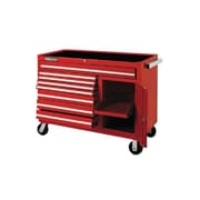 "Proto® 450HS 50"" 8 Drawer and 1 Shelf Work Station, Red"