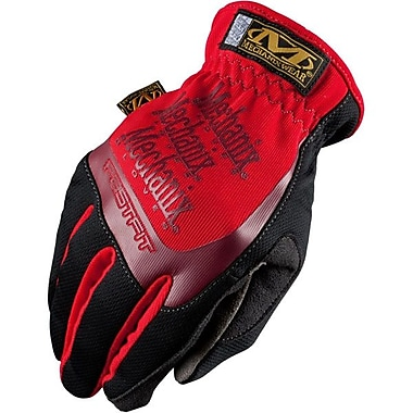 Mechanix Wear® FastFit Dexterous Synthetic Leather Gloves, Red, Large