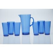 Certified International 7-Piece Pitcher Set; Cobalt Blue