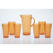 Certified International 7-Piece Pitcher Set; Orange