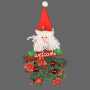 Queens of Christmas Battery Operated Santa Claus Hanging ''Welcome'' Arrangement