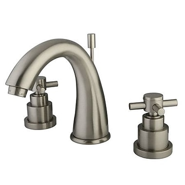 Elements of Design Tampa Widespread Bathroom Faucet w/ Double Cross Handles; Satin Nickel