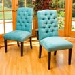 Home Loft Concept Parsons Chair (Set of 2); Teal Green