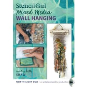 Stencil Girl - Stenciled Mixed Media Wall Hanging