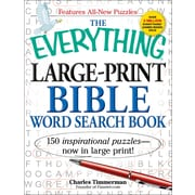 The Everything Large-Print Bible Word Search Book: 150 inspirational puzzles - now in large print! (Everything Series)