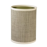 Kraftware Woven 3.25 Gallon Plastic Trash Can; Pearl