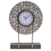 Crestview Manhattan Metal Washer Table Clock