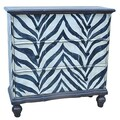Crestview Serengeti 4 Drawer Zebra Chest