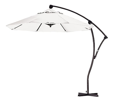 California Umbrella 9' Cantilever Umbrella; White WYF078276987899