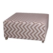 Privilege Chevron Square Ottoman; Brown