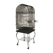 A&E Cage Co. Economy Dome Top Cage; Black