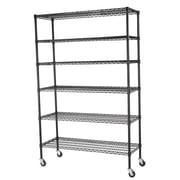 Sandusky Mobile 5 Shelf Wire Shelving