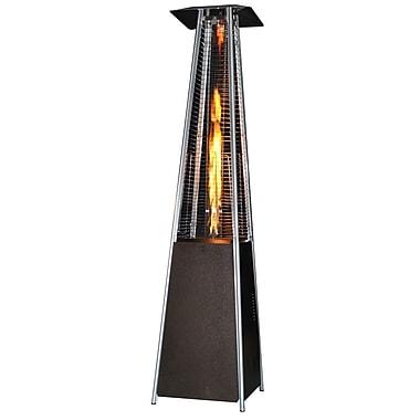 SUNHEAT Contemporary Square Design Portable Propane Patio Heater; Golden Hammered