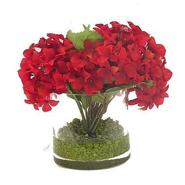 Creative Branch Faux Hydrangea in Glass Vase